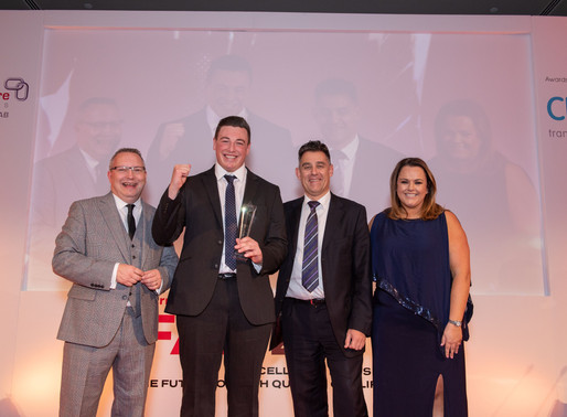 Luke is awarded Learner of the Year at FAB Awards Evening