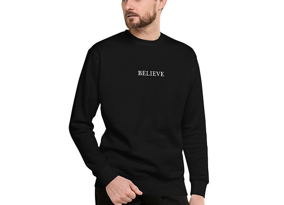Unisex Believe Fleece Sweatshirt