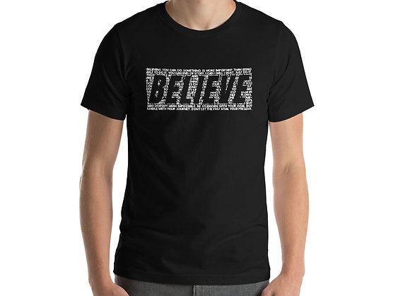 Mens Believe Quote T-Shirt