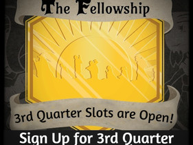Sign up for The Fellowship 2021 3rd Quarter is now Open!