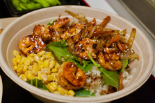 Spicy Grilled Shrimp Rice Bowl