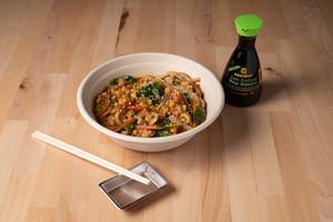 Curry Udon noodle with shrimp