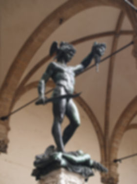 bronze statue of  Perseus with the Head of Medusa