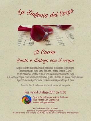 Pisa, Venerdì 3 Marzo 2017 ore 17.00 - La Sinfonia del Corpo: il CUORE. Sento e dialogo con il corpo