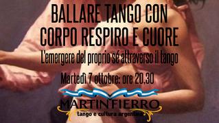 Ballare Tango con Corpo Respiro e Cuore. L'emergere del proprio sé attraverso il tango - Martedì 7 o