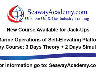 Marine Operations of Self-Elevating Platforms - New course offered at Seaway Academy, Bangkok Thaila
