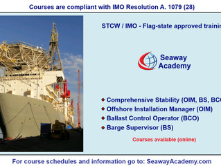 STCW / IMO Flag-state approved training offered online at Seaway Academy.
