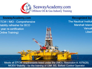 Online Training Course for Ballast Control Operator (BCO). Approved by: The Nautical Institute, Libe
