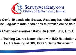 Seaway Academy obtains Flag-State approval to provide online (eLearning) for STCW / IMO - Comprehens