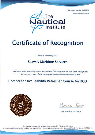 1-Nautical Institute - Seaway Certificat