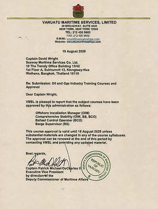 Vanuatu coures approvals - Aug 2020 - 20