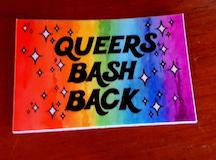 Queers Bash Back sticker