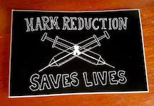 Harm Reduction Saves Lives sticker