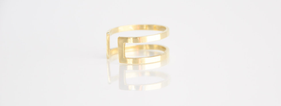 Dainty Gal - Square Outline Ring