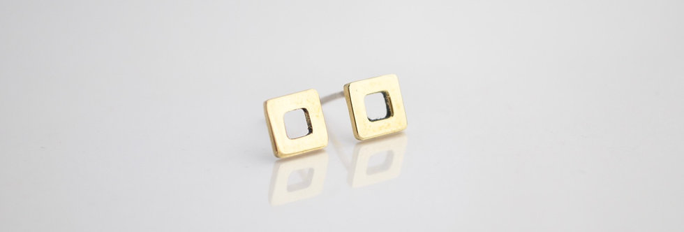 Minimlst Square, Cut-out Rounded Earrings
