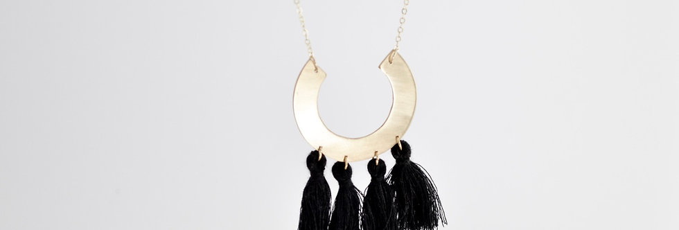 Meira Semi Necklace with Tassels