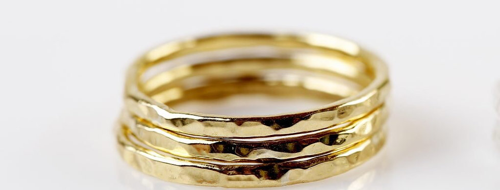Textured Stack rings -  set of 3