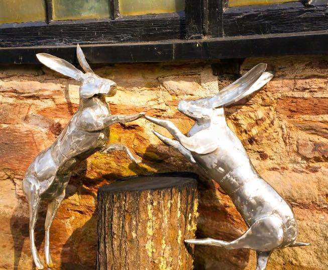 Boxing Hare Sculpture