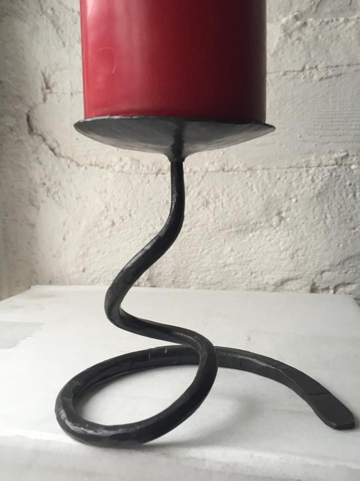 Wrought iron candle stick