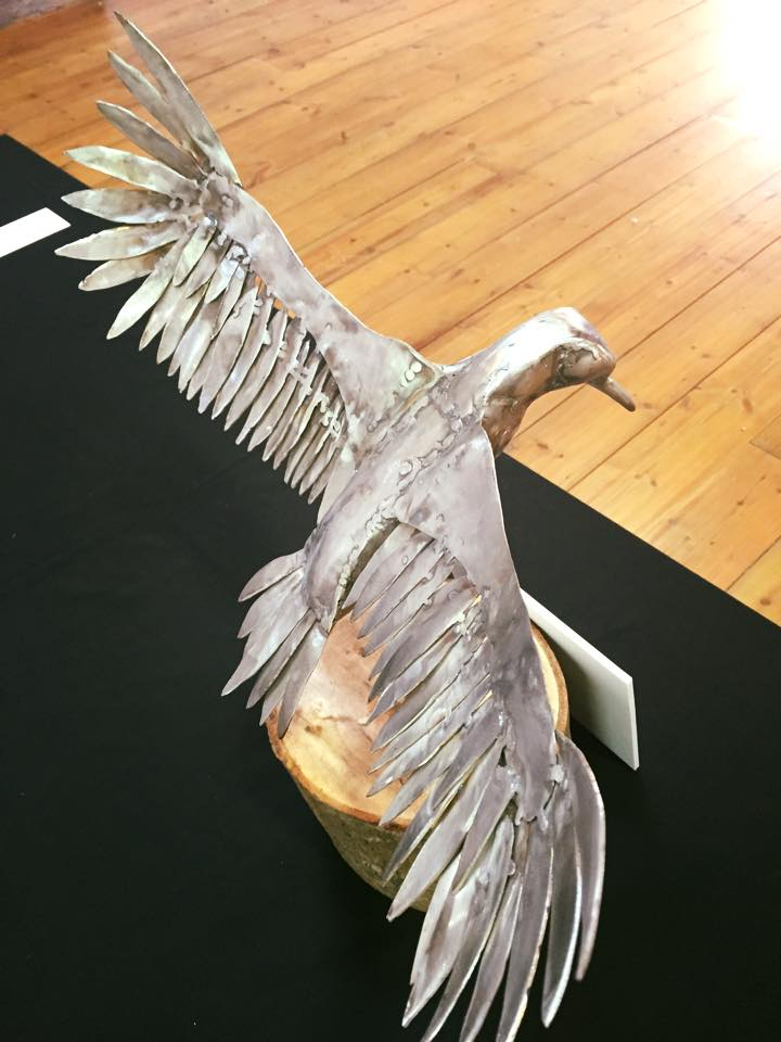 Bird in flight sculpture