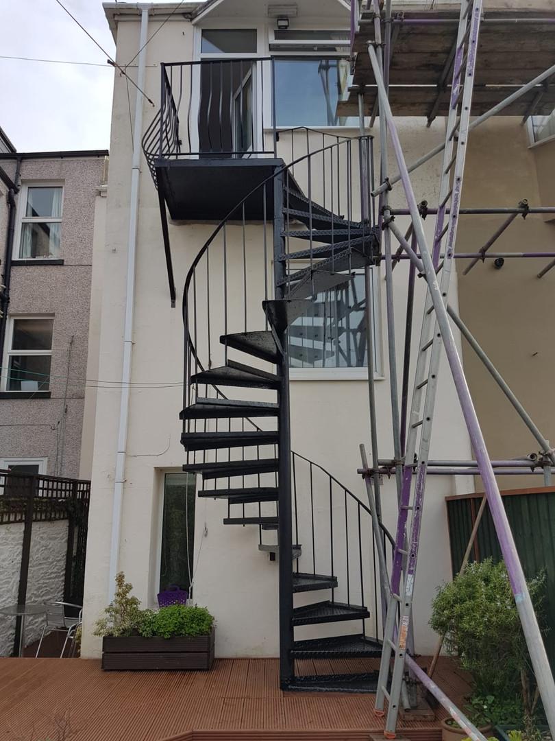 Spiral staircase restoration