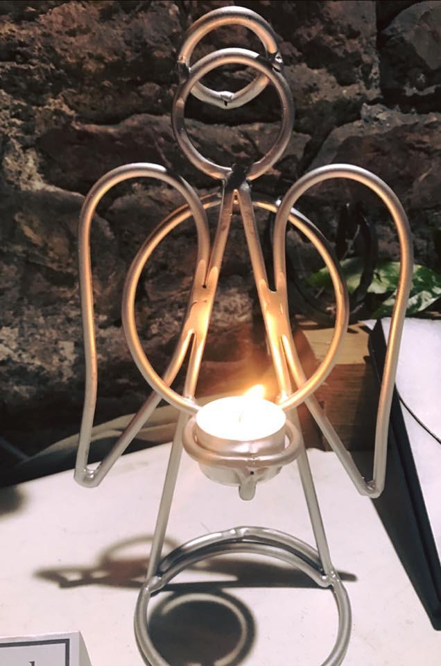 Angel candle holder
