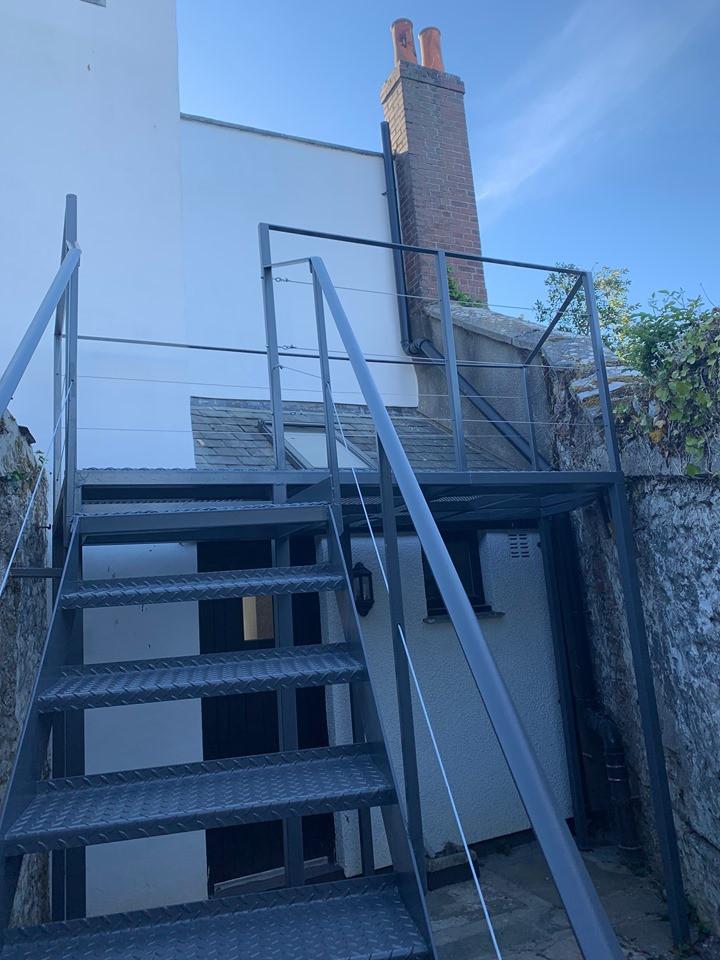 Balcony and railings Cornwall
