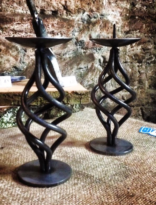Twisted pair of candle sticks.