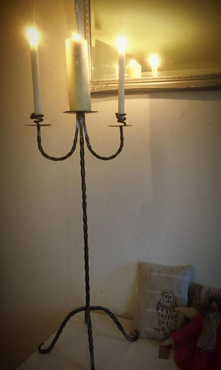 Hand forged candelabra