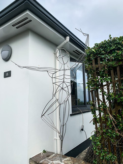 Stainless steel dancer sculpture