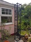 Garden wrought iron pillar