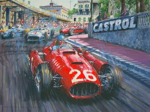 Alberto at the Station - Monaco Grand Prix 1955