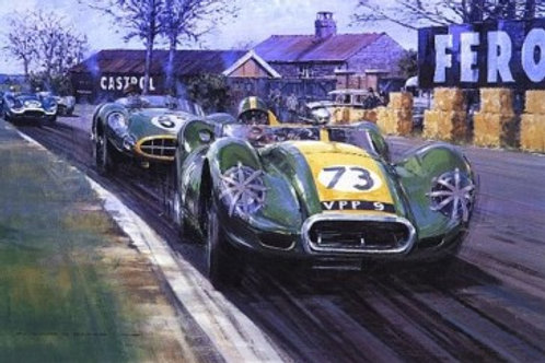 Archie and the Lister - Aintree 200 1957