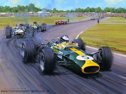 Jim Clark Team Lotus - British G.P. 1967