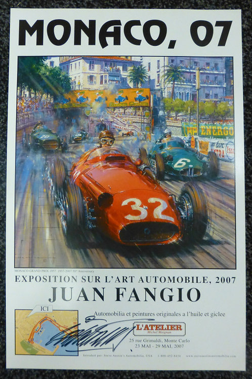 Monaco Classic Grand Prix 2007 Exhibition Poster