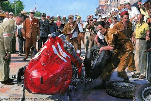 Hawthorn - Last Pit Stop Italian Grand Prix 1958