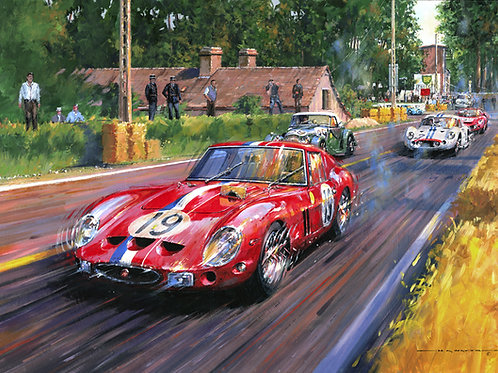 GTO at Tertre Rouge - Le Mans 1962