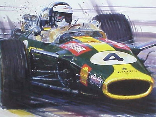 Green and Yellow - Jim Clark Lotus 49