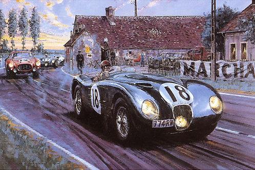 Jaguar at Whitehouse - Le Mans 1953