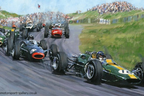 Clark Leading the Pack -  Zandvoort 1964
