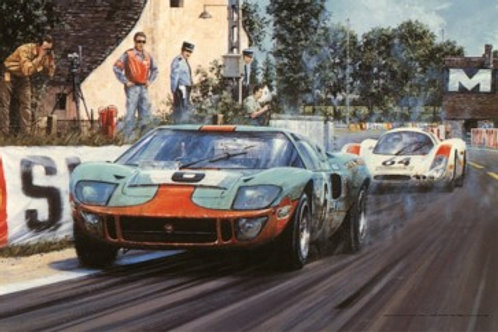 Race to the Line - Ford GT 40 Le Mans 1969
