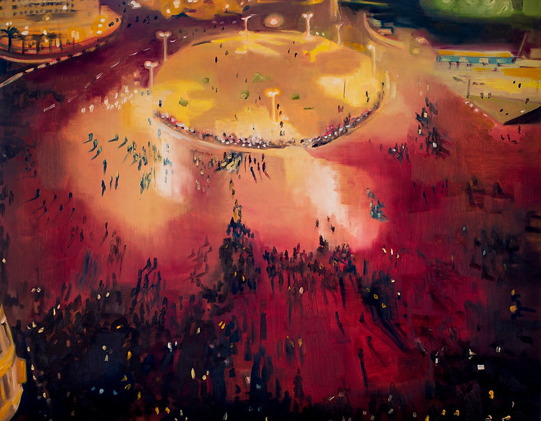 Tahrir Square Oil painting