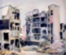 Aleppo Syria oil painting