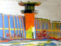 Abu Ghrain oil painting