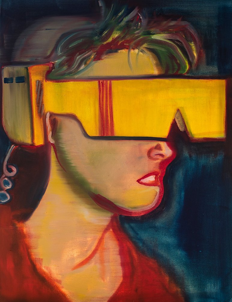 Virtual reality oil painting