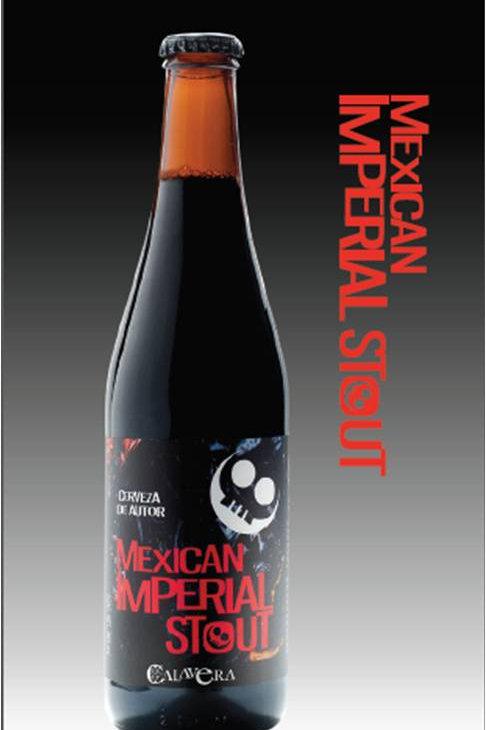 Cerveza Calavera Mexican Imperial Stout. Caja con 24 Botellas de 355ml c.u.