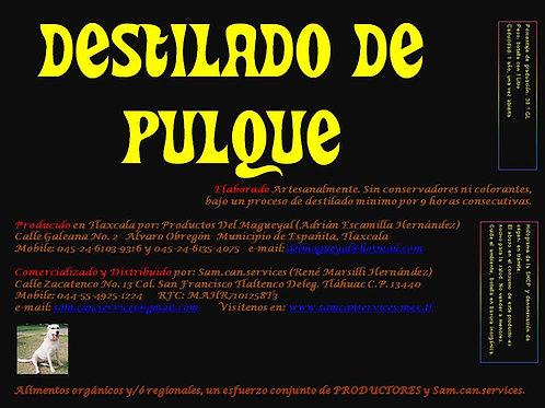 Destilado de Pulque Del Magueyal. Caja con 12 Botellas de 750ml c.u.