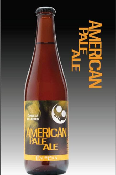 Cerveza Calavera American Pale Ale. Caja con 24 Botellas de 355ml