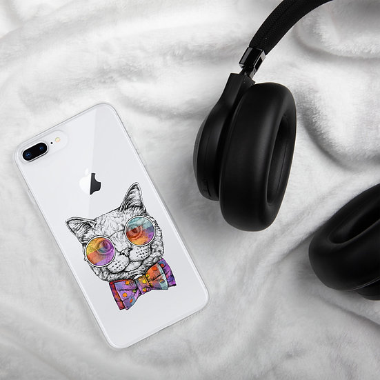 Cat by Funky Lemon iPhone Case