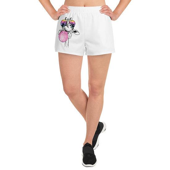 Giraffe by Funky Lemon Women's Athletic Short Shorts